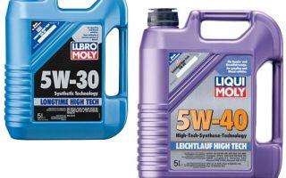 Можно ли заливать масло 5W-40 вместо 5W-30?