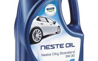 Neste City Standard 5W-30: защита с первой секунды пуска двигателя