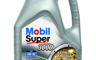Mobil Super 3000 XE 5W 30: бюджетная синтетика от всемирно известного бренда