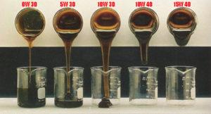 Сравнение вязкости моторных масел