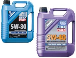 Моторные масла 5w-30 и 5w-40